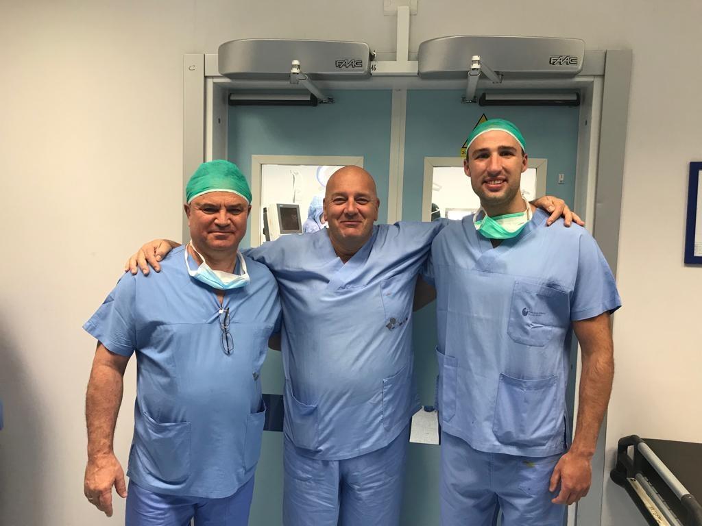 alla mia sinistra il dott. Glukhov ed alla mia destra il dott. Polikarpov